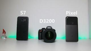 Camera Comparison: Google Pixel vs Galaxy S7 vs Budget DSLR!