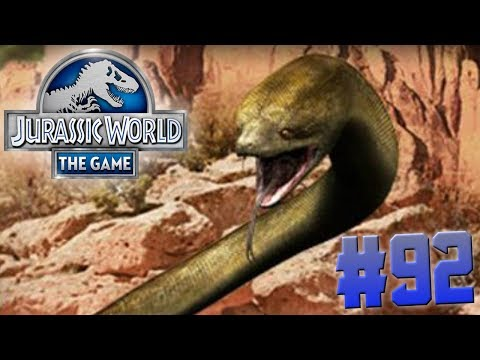 WORLD LARGEST SNAKE TITANOBOA!!!-Jurassic World:The Game Ep. #92