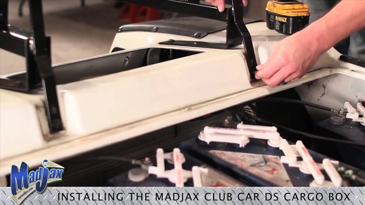 Cargo Box for Club Car® DS® | How to Install Video | Madjax® Golf on golf carts for disabled, golf carts for fire depts, golf carts vehicle,