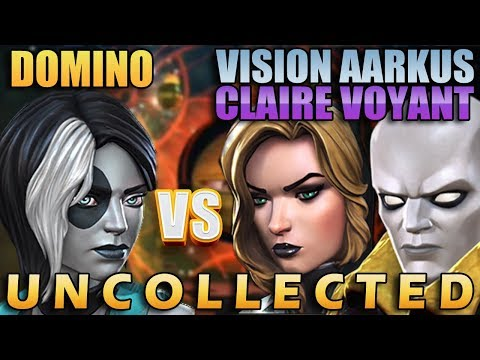 6 Star Domino VS Black Widow (Claire Voyant) & Vision (Aarkus) - Marvel Champions Of Champions