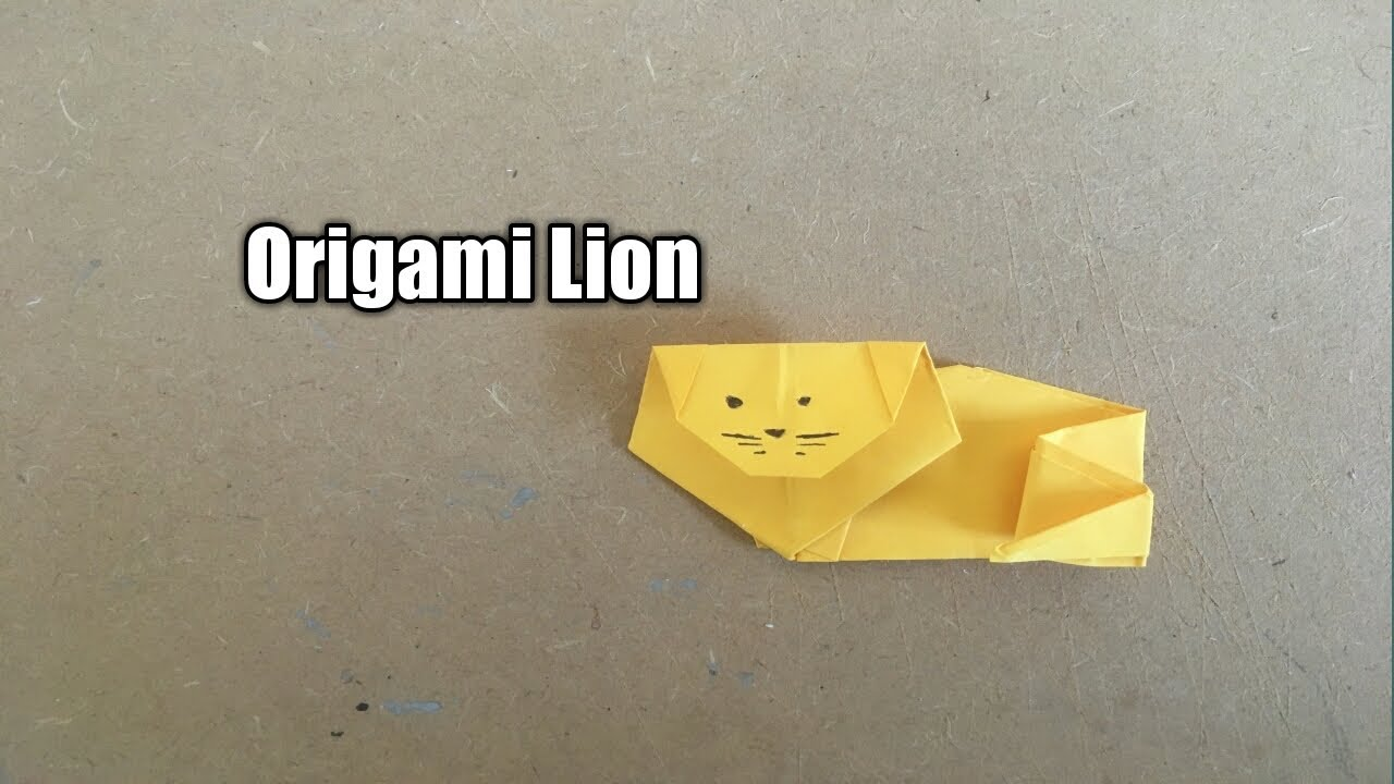 Easy Origami Lion - Easy Tutorial Origami - How to make an origami ... | 720x1280