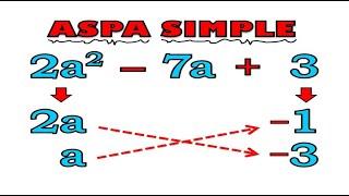 FACTORIZACIÓN Método del Aspa Simple thumbnail