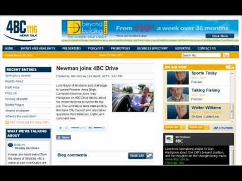 Save Greenbank interview with Campbell Newman