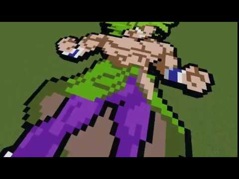 Minecaft Pixel Art Timelapse Broly Dragon Ball Super Broly
