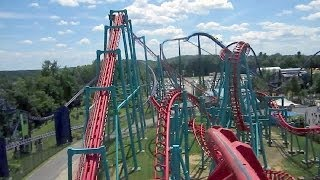 Mind Eraser front seat on-ride HD POV Six Flags New England