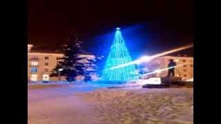 Медиафасад (светодиодная сетка) на ёлке.(, 2014-01-14T01:36:06.000Z)