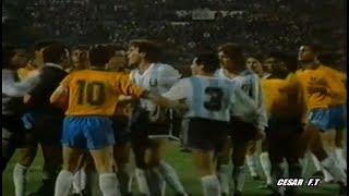 Las violentas faltas entre Argentina y Brasil ► Copa América 1991
