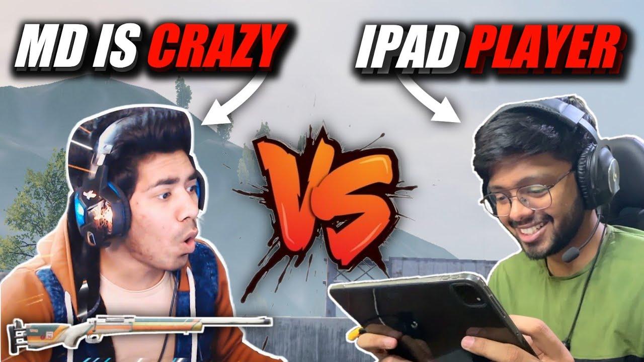 MDisCrazY Pixel Peak God Vs iPad 4 Finger Player | Emulator Vs iPad Battle 🔥 | M24 1v1 TDM | PUBGM