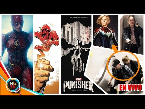 CAPITAN MARVEL EN AVENGERS 4  - THE FLASH JLA - PUNISHER || Noticias Geek TV En VIVO