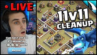 *Easy Cleanup* LIVE War Attack 11v11 | Clash of Clans