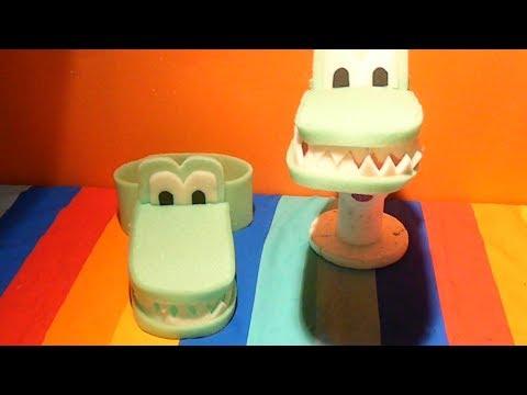Vincha de goma espuma forma de cocodrilo (peluca) - YouTube