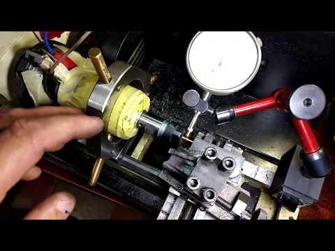 Устранение биения на цанговом патроне ER 11 на шпинделе (мотора 775), проточка конуса под цангу