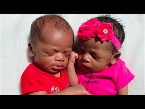 Newborn Twins 1 Month Update | Premature Babies | Co ...