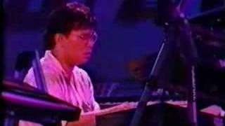 LIVE in Hibiya open-air concert hall. Tokyo, Japan 1988 Takeshi Ito...