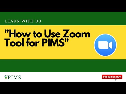 How To Use Zoom Tool For PIMS Classes