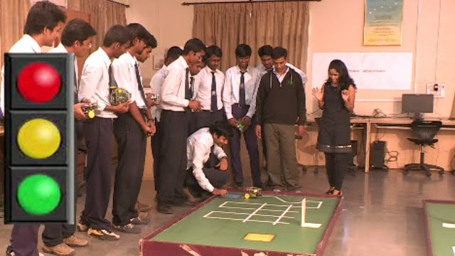 Mobile Robotic Competition By Mit Pune Students Hunnarbaaz