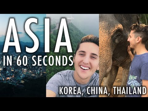 ASIA TRIP IN 60 SECONDS | Traveling to South Korea, China, & Thailand