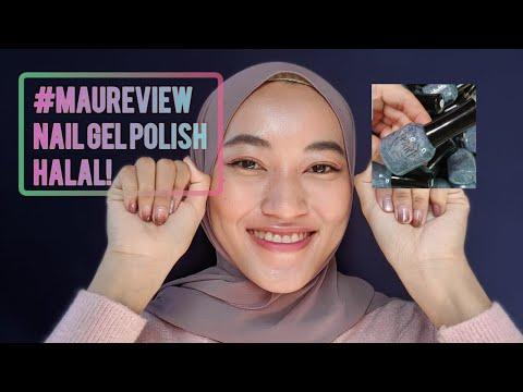 #maureview Nail Gel Polish Party Halal | Boleh solat ngga? - YouTube