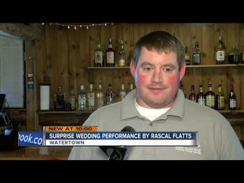 Rascal Flatts shocks Wisconsin couple at wedding