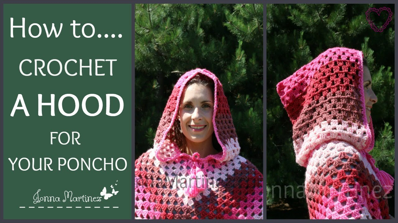 How To Crochet A Poncho Hood Youtube