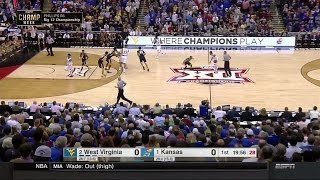 Kansas Jayhawks vs West Virginia Mountaineers  3-12-2016