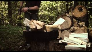 John Neeman Tools Finnish Splitting Axe/Maul In Action