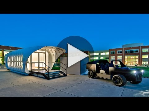Oak Ridge scientists built interconnected 3D printed house and car