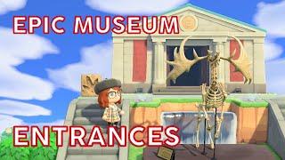 designing epic museum entrances in Animal Crossing! • ACNH trends | @imAnnaMolly