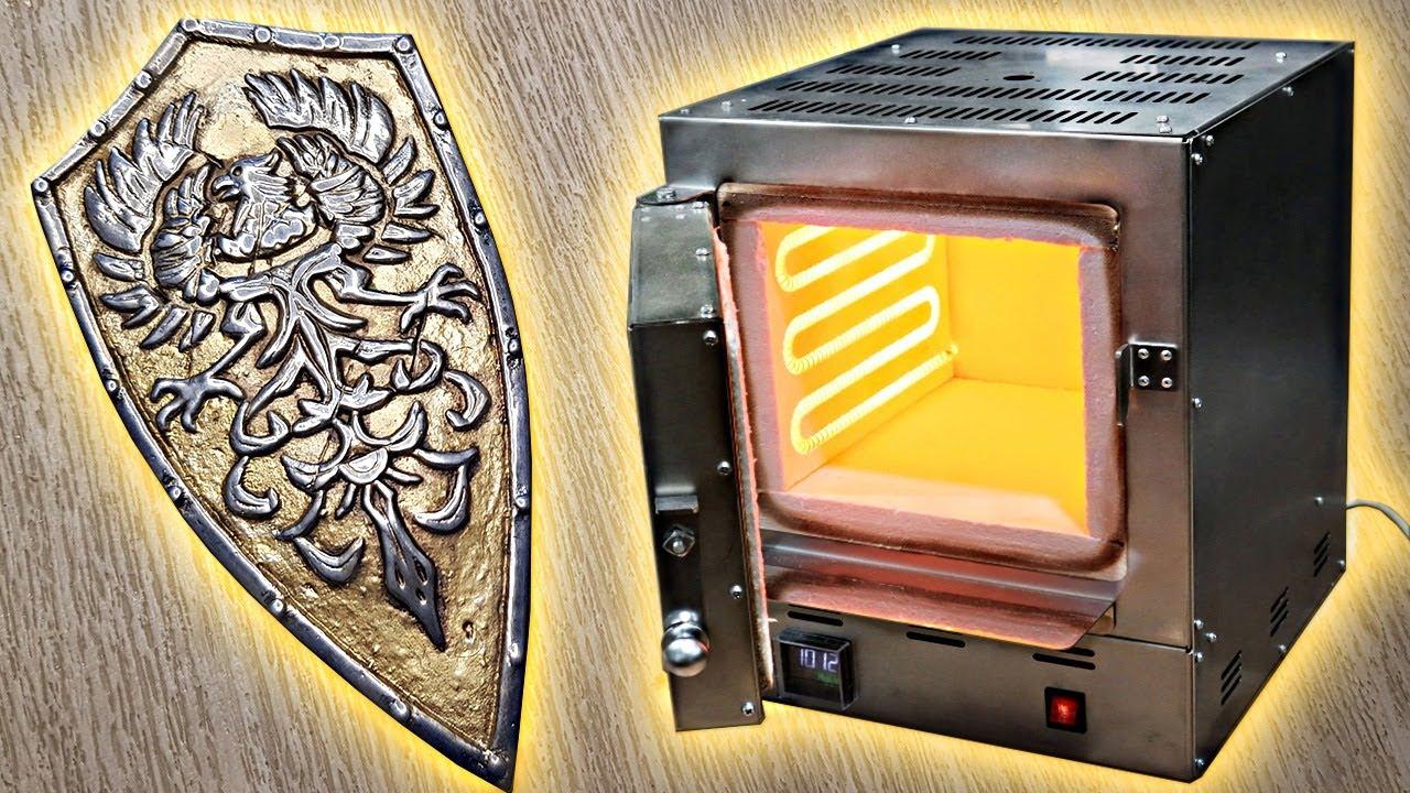 Литье щита из алюминия на балконе в новую экономичную печь на 220 вольт