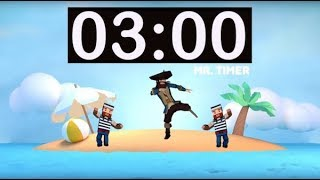 3 Minute Timer with Music for Kids, Classroom! 3 Minute Countdown with Alarm! Fun Timer 3 Minutes!