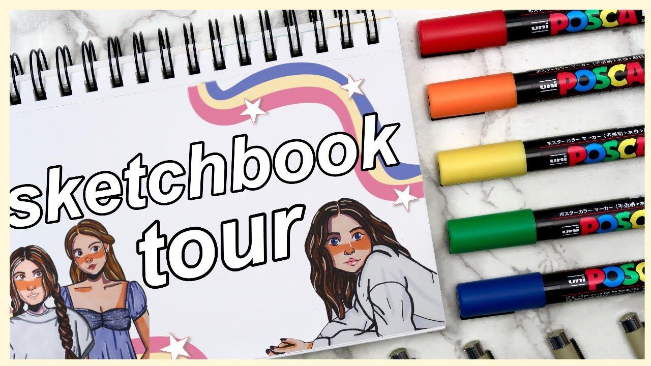 Sketchbook Tour! Art Journal Flip Through - Drawing Ideas for Beginners 2020