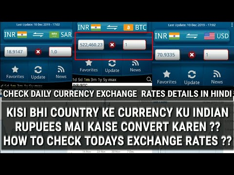 How To Check Daily Currency Rates | 1 Bitcoin Is 5.2 Lakh Inr