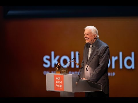 Jimmy Carter receives the Skoll Foundation Global Treasure Award | Opening Plenary | SkollWF 2018