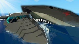 MEGALODON ATTACKS CRASHED PLANE! - Stormworks Multiplayer Gameplay - Megalodon Attack Survival