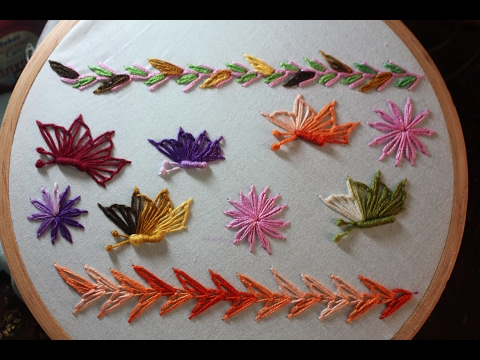 Hand Embroidery Designs | Basic embroidery stitches # Part-10 | Stitch and Flower-118