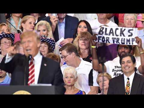 The man behind the 'Blacks for Trump' signs has an interesting past