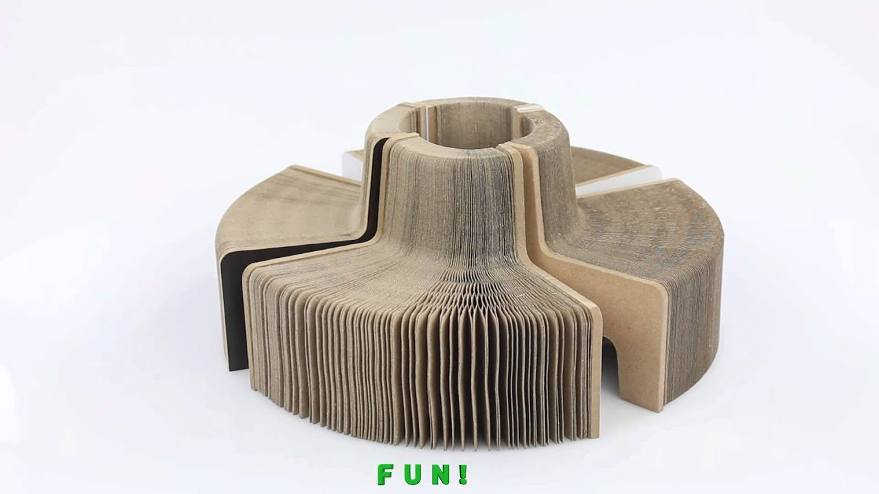 Expanding Slinky Chair Folding Paper Chair Youtube
