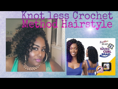 Knot less Crochet Hairstyle: Freetress Ringlet Wand Curl