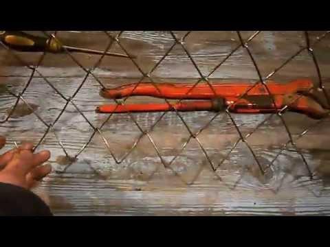 Плетеный забор Плетение рабица своими руками