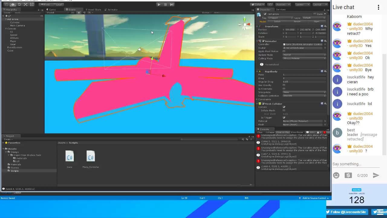 UNITY3D LIVE #03 (Jet Simulator)