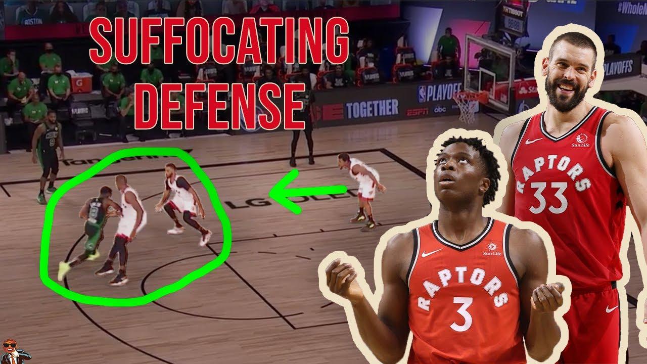 Celtics suffocate Raptors defensively in Game 5