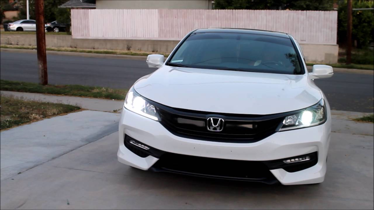 2016 Honda Accord EX-L V6 with Acura TL Projector Retrofit - YouTube