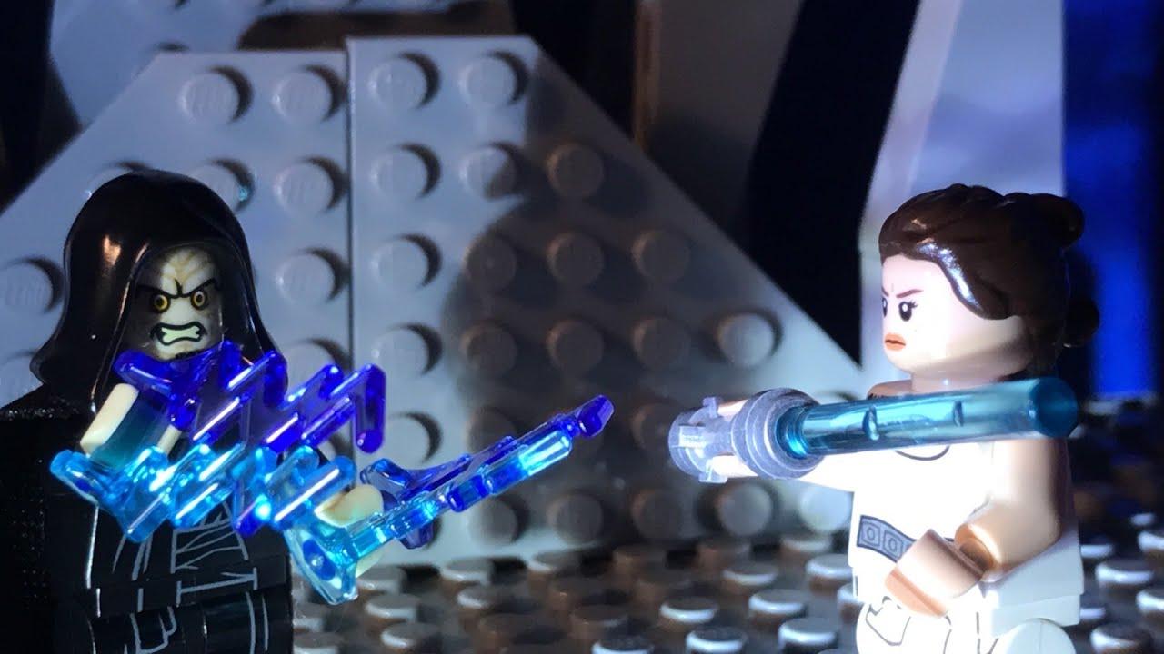 Lego Rise Of Skywalker Rey Vs Palpatine Scene Palpatine S Death Youtube