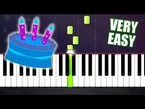 Happy Birthday - VERY EASY Piano Tutorial by PlutaX