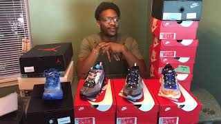 Nike React Element 87 Blue Chill, Knick's and Black Neptune Green Early look drops 10/10/18