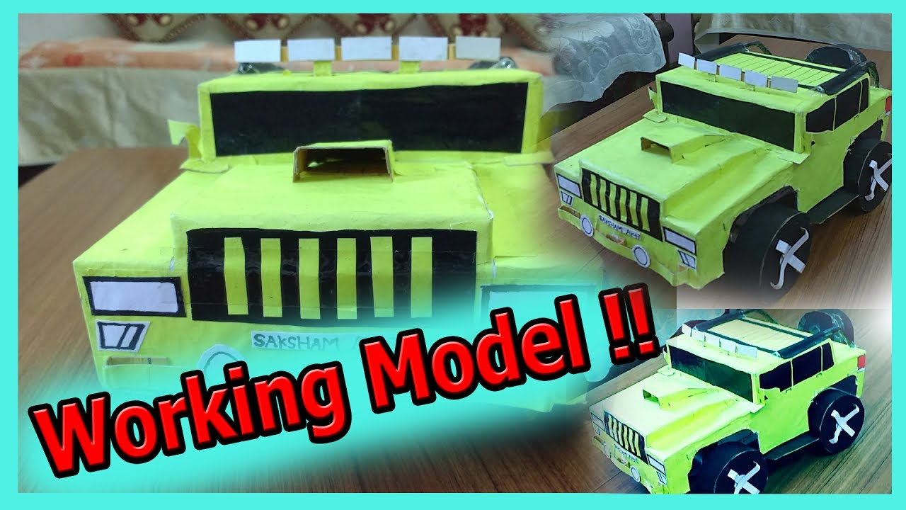 DIY How To Make A WORKING Model Of Car Easy Tutorial By Saksham AK47