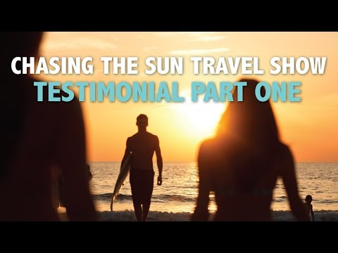 Chasing the Sun - Travel Show Testimonial Filming in St. Pete / Clearwater, Florida (Part 1)