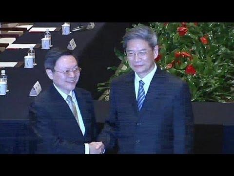 China and Taiwan begin historic high-level talks