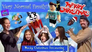 MERRY CHRISTMAS ROBLOX DENIS! A VERY NORMAL FAMILY DECORATING A TREE! WACKY PACK INSTA-TREE