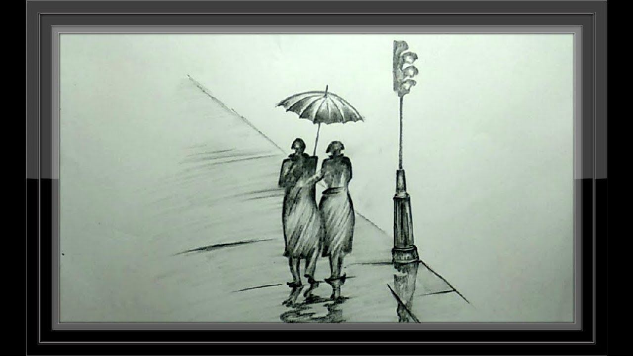 Cool pencil drawing romantic couple step by step essay